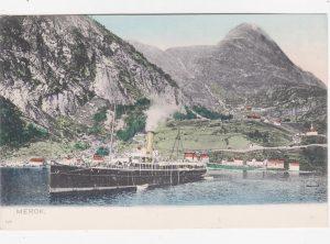Dampskip i Geirangerfjorden