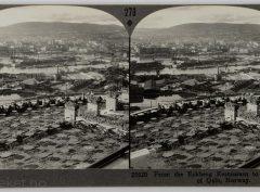 Utsikt over Oslo fra taket på den nye Ekebergrestauranten (1929)