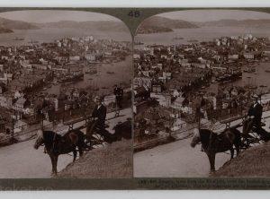 Bergen og havna sett fra Fløyfjell (1905)