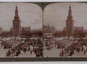 Stortorget med statuen av Christian IV og Domkirken (1905)