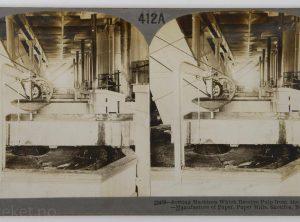 Skotfoss Bruk ved Skienselva – Sorteringsmaskin, Nord-Europas største papirfabrikk