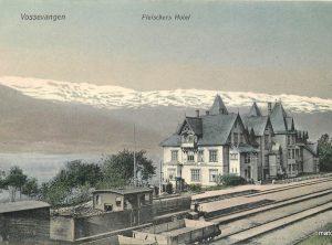 Vossevangen – Fleischers Hotel og Jernbanestasjon