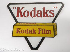 Kodak Film – Emaljeskilt fra 1930-tallet