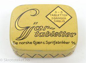 Gjærtabletter fra De norske Gjær- & Spritfabrikker A/S