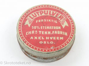 Lutpulver fra Christiania Tekn. Fabrik