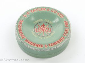 Dressmakers' Hardened & Tempered Steel Pins – D. F. Tayler & Co Ltd.