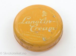 Lanolin-cream fra C. Christoffersen, Skien