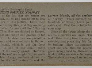 Tørking av torsk, Karmøy
