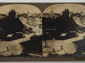 15. Carl Johans gade med slottet i baggrund, Christiania