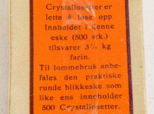 CRYSTALLOSETTER – Til søting av desserter og drikker