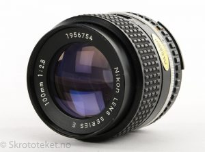 Nikon 100mm f2.8 Series E (AI) – Serienr.: 1956754