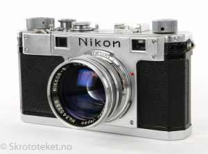 Nikon S (1951) med Nikkor-SC 50mm f1.4 (BM, chrome)