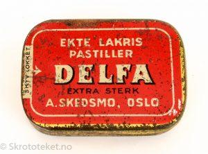 DELFA – Ekte Lakris Pastiller – A. Skedsmo Oslo