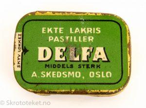 DELFA – Ekte Lakris Pastiller – Middels sterk – A. Skedsmo Oslo