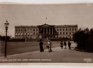 Det Kongel. Slot Med Karl Johans Monumentet, Christiania