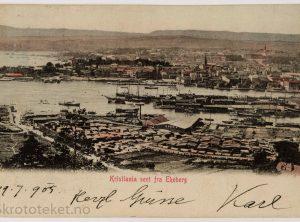 Kristiania sett fra Ekeberg