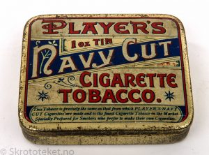 PLAYER'S Navy Cut Cigarette Tobacco – John Player (med sigar-etiketter)