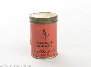 Vaniljesukker – T. Gulliksrud & Co (Geco), Oslo (1950-tallet)
