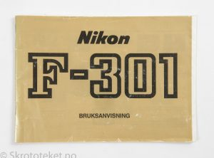 Nikon F-301 – Bruksanvisning (Instruction Manual)