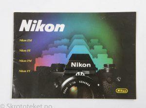 Nikon brosjyre – EM, FE, FM og F3