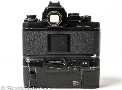 "Pressekamera fra ""NTB Oslo"" (Norsk Telegrambyrå) – Nikon F3 P med HP-søker og MD-4 motor"