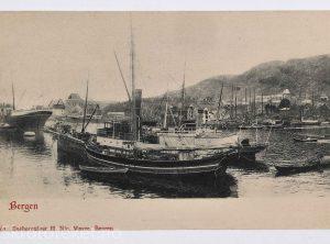 Bergen havn fotografert fra Holbergsalmenning (1903)