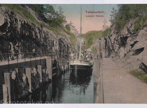 DS «Inland» ved Løveid kanal – Skotfoss, Skien, Telemark (1909)