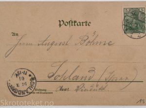 S. M. Yacht Hoenzollern II i Lofoten (1901)