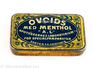 OVOIDS med Menthol – Apothekernes Laboratorium for Specialpræparater A/S – Skøyen Pr. Kristiania