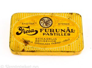 "Ekstra Sterke ""FURUNÅL-PASTILLER"" – A/S Freia Chocolade fabrik, Oslo"