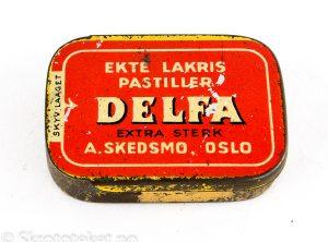 DELFA – Ekte Lakris Pastiller – Ekstra sterk – A. Skedsmo Oslo