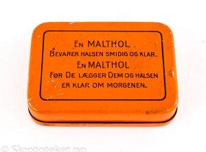 Malthol pastiller – AS Freia Chocolade Fabrik Oslo (uten Freia-logo på forsiden)