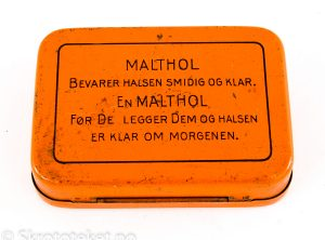 Malthol pastiller – AS Freia Chocolade Fabrik Oslo