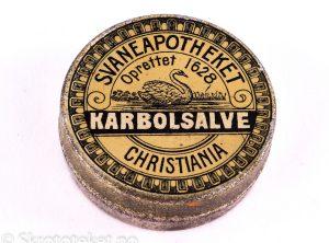 KARBOLSALVE fra Svaneapotheket i Christiania (1890-tallet)