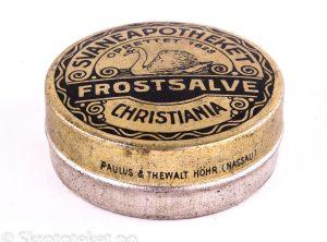 FROSTSALVE fra Svaneapotheket i Christiania (1890-tallet)